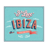 Vintage Greeting Card From Ibiza - Spain ポスター :  MiloArt