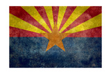 Arizona State Flag - With Distressed Treatment Posters by Bruce stanfield