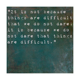 Inspirational Quote By Seneca On Earthy Background Poster by  nagib