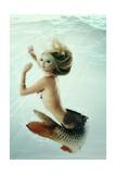 Mermaid Beautiful Magic Underwater Mythology Being Original Photo Compilation Posters by  khorzhevska