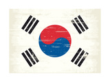 South Korea Grunge Flag. A Flag South Korea With A Texture Prints by  TINTIN75