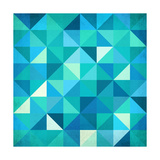 Abstract Colorful Triangles Posters by  art_of_sun