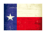 Texas Grunge Flag Prints by  TINTIN75