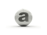 3D Alphabet, Spherical Letter A Isolated On White Background Prints by Andriy Zholudyev