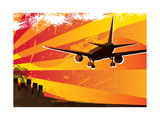 Airplane Landing Poster Print by  Rashomon