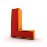 3D Alphabet, Letter L Isolated On White Background Poster by Andriy Zholudyev