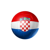 Soccer Football Ball With Croatia Flag Poster by  daboost