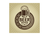 Beer Premium Retro Styled Seal And Label Prints by Reno Martin