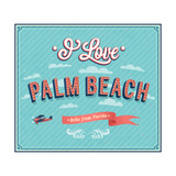 Vintage Greeting Card From Palm Beach - Florida Prints by  MiloArt