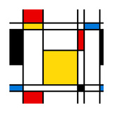 Seamless Abstract Geometric Colorful For Continuous Replicate Premium Giclee Print by  alexfiodorov