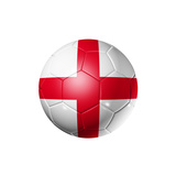 Soccer Football Ball With England Flag Prints by  daboost