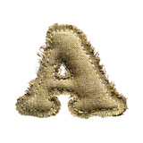 Linen Vintage Cloth Letter A Isolated On White Posters by  smaglov