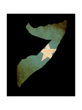 Map Outline Of Somalia With Flag Grunge Paper Effect Prints by  Veneratio