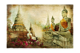 Ancient Thailand - Artwork In Painting Style Pôsters por  Maugli-l