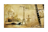 Memories About Paris.. Vintage Photoalbum Series Poster by  Maugli-l