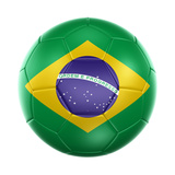 3D Rendering Of A Brazilian Soccer Ball Isolated On A White Background Prints by  zentilia