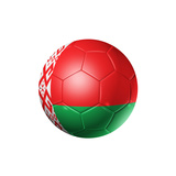 Soccer Football Ball With Belarus Flag Posters by  daboost