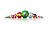 Soccer Football Balls Group With Teams Flags Reproduction giclée Premium par  daboost