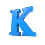 3D Alphabet, Letter K Isolated On White Background Posters by Andriy Zholudyev