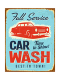 Vintage Metal Sign - Car Wash - Jpg Version Prints by Real Callahan