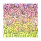 Colorful Circle Modern Abstract Design Pattern Prints by  Melindula