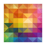 Abstract Vibrant Triangles Prints by  art_of_sun