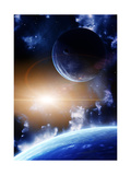 Space Flare. A Beautiful Space Scene With Planets And Nebula Prints by  frenta