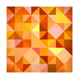 Abstract Triangles Grunge Poster by  art_of_sun