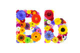 Flower Alphabet Isolated On White - Letter B Prints by  tr3gi