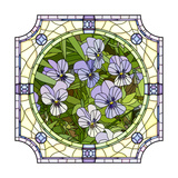 Flower Purple Pansies Prints by  Vertyr