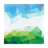 Colorful Mosaic Triangle Background Art by  Rasveta