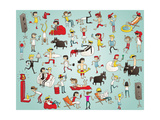 Collection of Young People Having Fun Prints by  vook