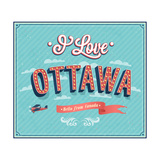 Vintage Greeting Card From Ottawa - Canada Poster by  MiloArt