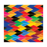 Seamless Abstract Colorful Of Arrows And Dart Shapes Premium Giclee Print by  smarnad