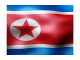 North Korea Country Flag 3D Illustration Posters by  pling