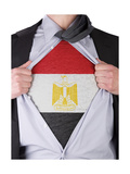Business Man With Saudi Egyptian Flag T-Shirt Poster by  IJdema