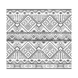 Abstract Geometric Seamless Aztec Pattern. Ikat Style Pattern Premium Giclee Print by cherry blossom girl