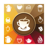 Coffee And Tea Icons Poster von  venimo