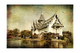 Pictorial Thailand - Artwork In Painting Style Print by  Maugli-l