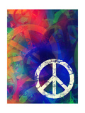 Computer Designed Highly Detailed Grunge Abstract Textured Collage - Peace Background Print by  Gordan