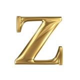 Golden Letter Z Lowercase High Quality 3D Render Isolated On White Prints by  smaglov
