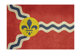 Grunge City Flag Of St Louis City In Missouri In The U.S.A Art by  Speedfighter