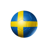 Soccer Football Ball With Sweden Flag Print by  daboost