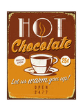Vintage Metal Sign - Hot Chocolate - Jpg Version Prints by Real Callahan