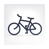 Minimalistic Bicycle Icon Premium Giclee Print by  pashabo