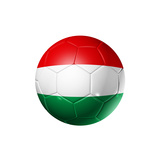 Soccer Football Ball With Hungary Flag Print by  daboost