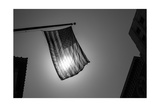 Us American Symbol Flag Over Black And White City Urban Shapes Posters by  holbox
