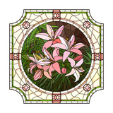 Flower Pink Lilies Premium Giclee Print by  Vertyr