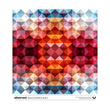 Abstract Colorful Triangles Posters by  adistock