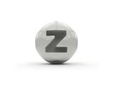 3D Alphabet, Spherical Letter Z Isolated On White Background Poster by Andriy Zholudyev